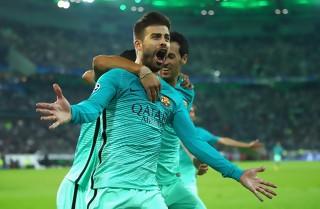 Pique sikrede Barcelona sejren mod Gladbach