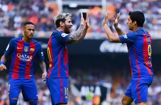 Messi reddede Barcelona i sidste sekund
