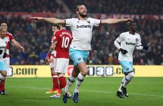 Andy Carroll bragede West Ham til sejr