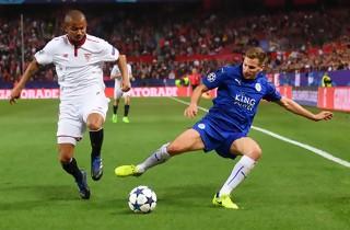 Sevilla tager snæver føring til Leicester