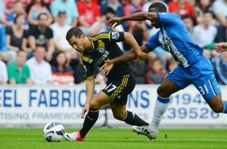 Hazard glimrede i Chelsea-sejr