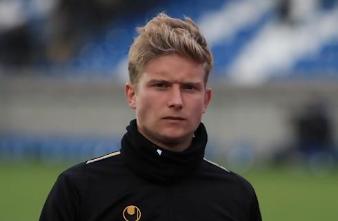 Christian Sørensen skriver med Fredericia