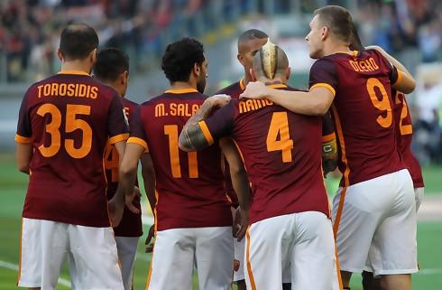 Roma forl�ngede sejrsstimen til sidst