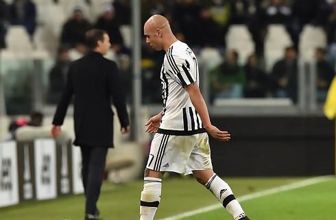 Juventus-stimen blev bremset i Bologna