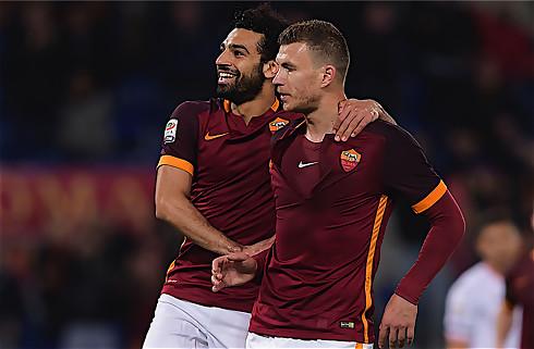 Salah scorede fra baglinjen i Roma-storsejr