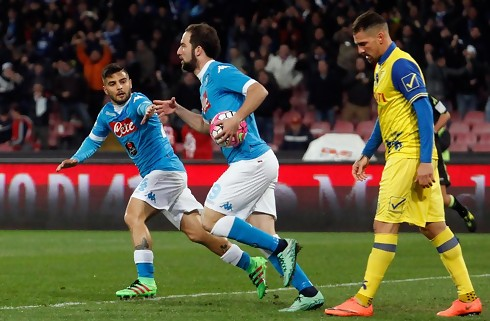 Napoli fik tiltr�ngt sejr mod Chievo