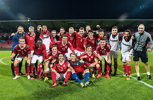 Fem FCN-spillere med  Danmark til U21-EM