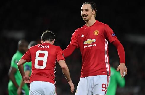 Zlatan-hattrick bag sikker United-sejr
