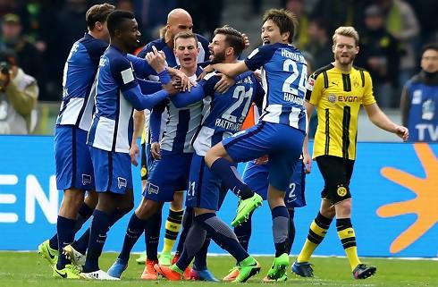 Herthas frisparksdrøn sænkede Dortmund