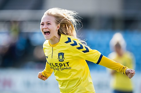 Brøndby sejrede 2-0 i første semifinaleopgør