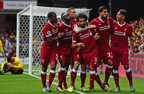 Mohamed Salah jubler over Liverpool-start