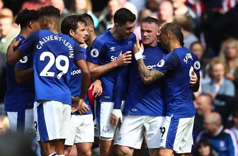 Rooney blev matchvinder i Everton-sejr