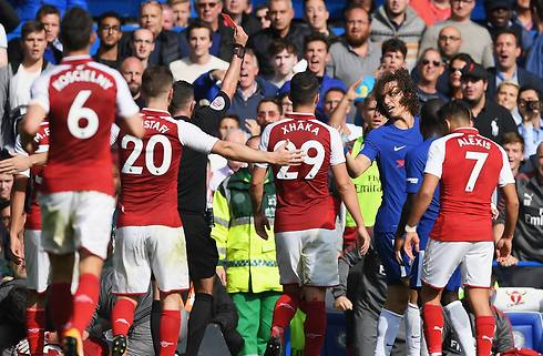 David Luiz så rødt i nulløsning mod Arsenal