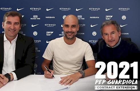 Pep Guardiola får tre år mere i City