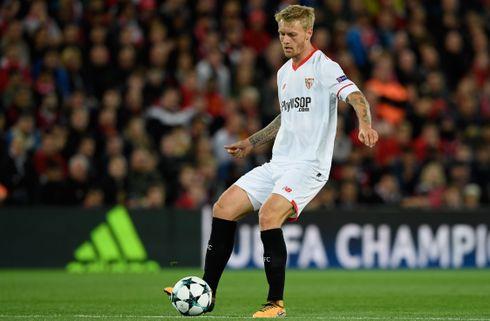 Kjær og Sevilla har det ene ben i kvartfinalen