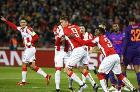 Røde Stjerne dukkede sensationelt Liverpool