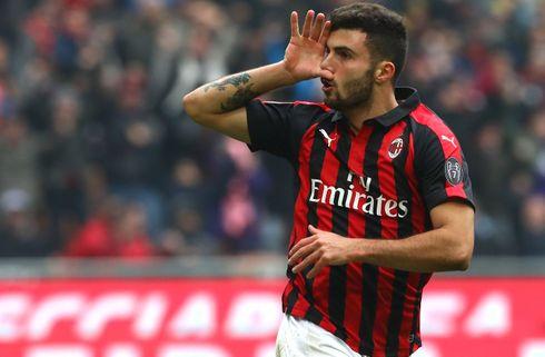 Cutrone kom som kaldet for Milan i Sampdoria