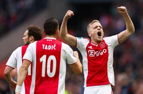 Dolberg-løse Ajax kørte over Laursens Emmen