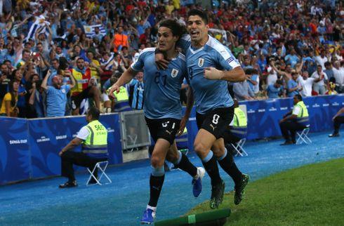 Cavani og Uruguay fik ram på Chile