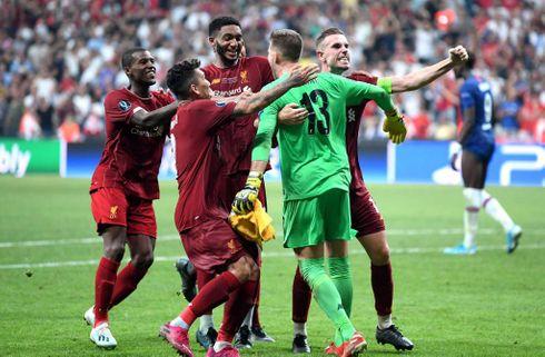 Liverpool vandt Super Cup-trofæet fra pletten