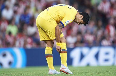 Opmuntring i Barca: Suarez træner med igen