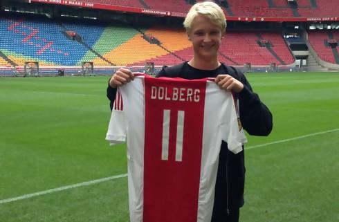 Ajax forlænger med Kasper Dolberg